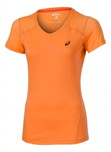 asics Damen Laufshirt - FUZE V-NECK TOP - 129975 0558