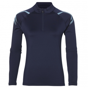 asics Damen Laufshirt - ICON WINTER LS 1/2 ZIP TOP - 2012A012 400